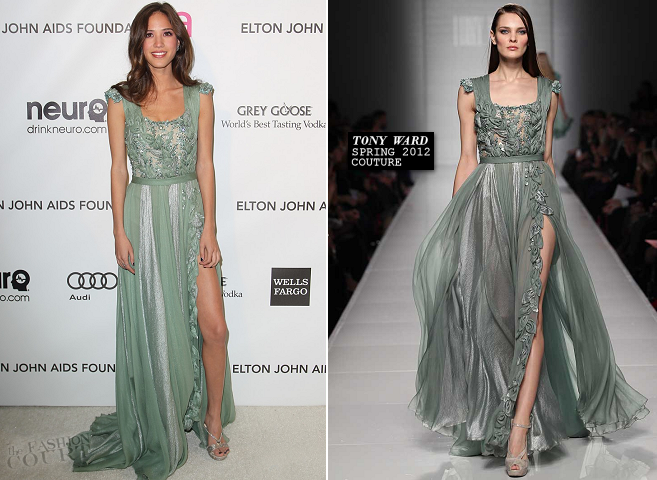 Kelsey Chow in Tony Ward Couture | 2013 Elton John AIDS Foundation Academy Awards Viewing Party