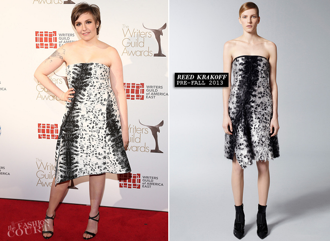 Lena Dunham in Reed Krakoff | 2013 WGA Writers Guild Awards