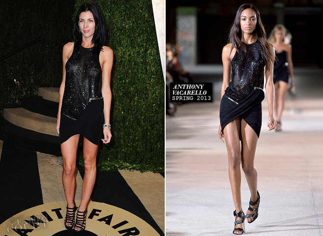 Liberty Ross in Anthony Vaccarello | 2013 Vanity Fair Oscar Party