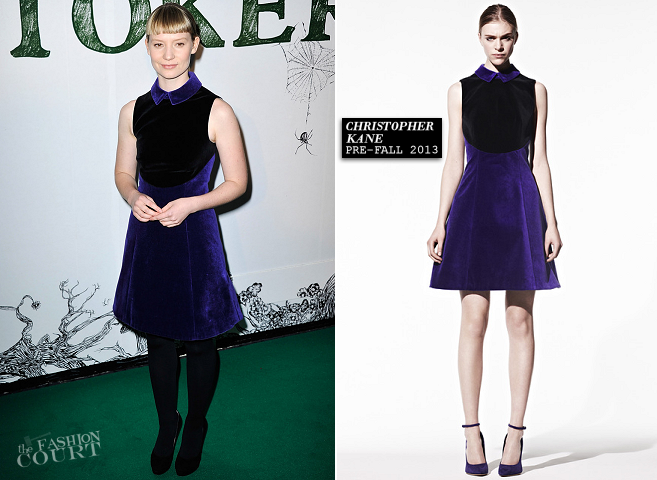 Mia Wasikowska in Christopher Kane | 'Stoker' London Screening