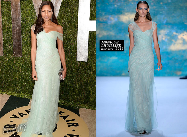 Naomie Harris in Monique Lhuillier | 2013 Vanity Fair Oscar Party