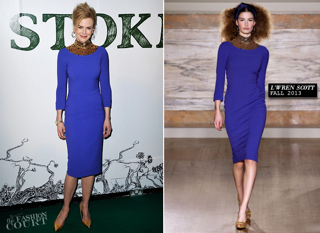 Nicole Kidman in L'Wren Scott | 'Stoker' London Screening