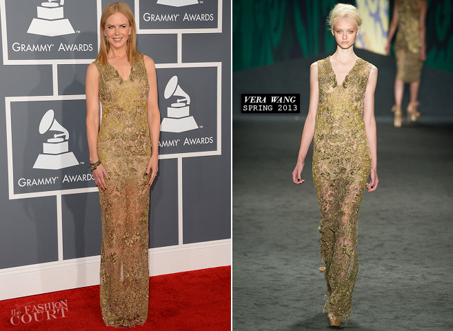 Nicole Kidman in Vera Wang | 2013 GRAMMY Awards
