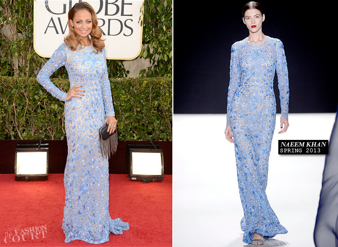Nicole Richie in Naeem Khan | 2013 Golden Globes