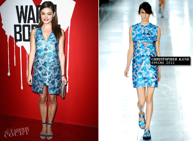 Phoebe Tonkin in Christopher Kane | 'Warm Bodies' Hollywood Premiere