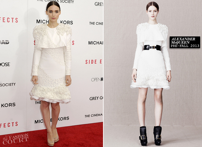 Rooney Mara in Alexander McQueen | 'Side Effects' NY Premiere