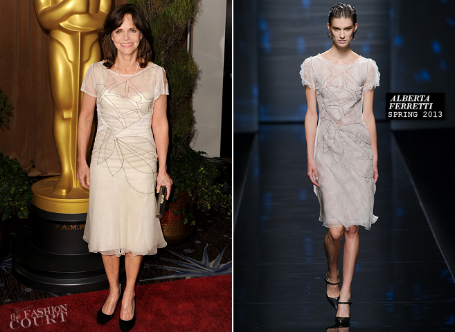 Sally Field in Alberta Ferretti | 2013 Oscar Nominations Luncheon
