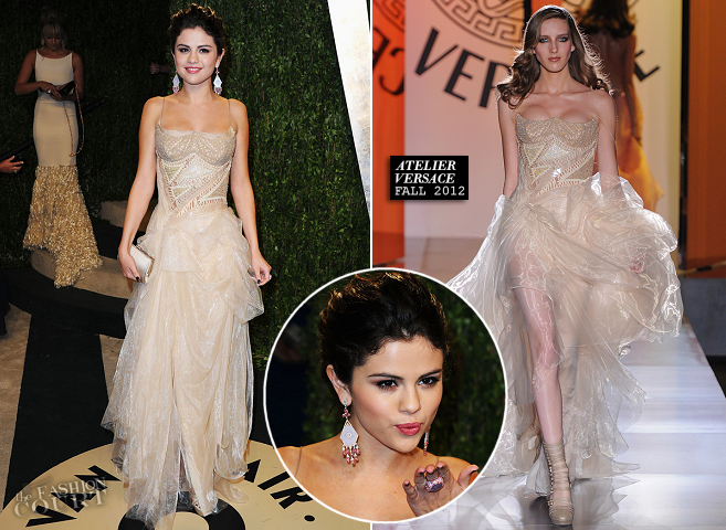 Selena Gomez in Atelier Versace | 2013 Vanity Fair Oscar Party