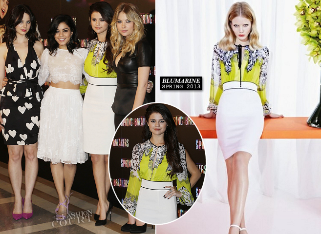 Selena Gomez in Blumarine | 'Spring Breakers' Madrid Photocall