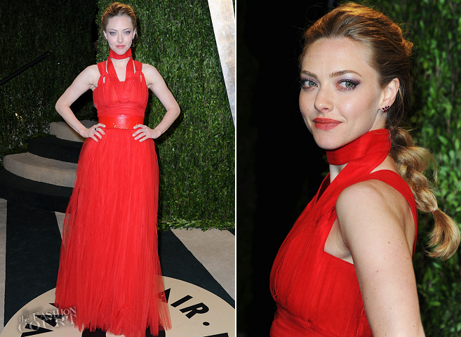 Amanda Seyfried in Givenchy | 2013 Vanity Fair Oscar Party