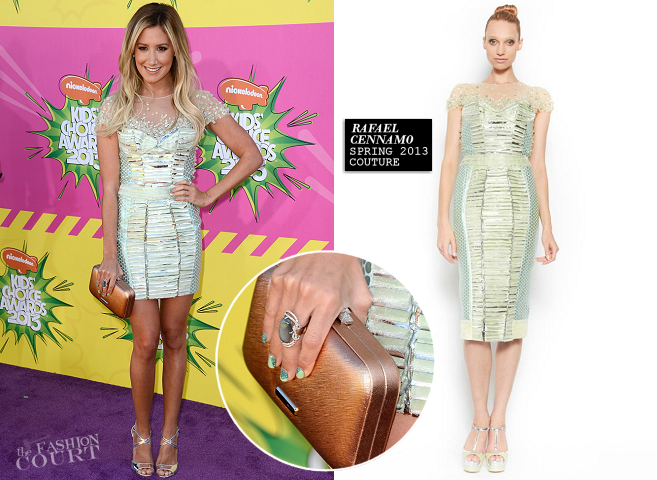 Ashley Tisdale in Rafael Cennamo Couture | 2013 Kids' Choice Awards