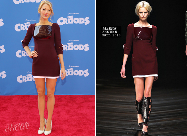 Blake Lively in Marios Schwab | 'The Croods' NYC Premiere