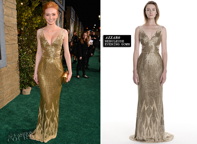 Eleanor Tomlinson in Azzaro | 'Jack The Giant Slayer' Hollywood Premiere
