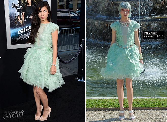 Elodie Yung in Chanel | 'G.I.Joe: Retaliation' Hollywood Premiere
