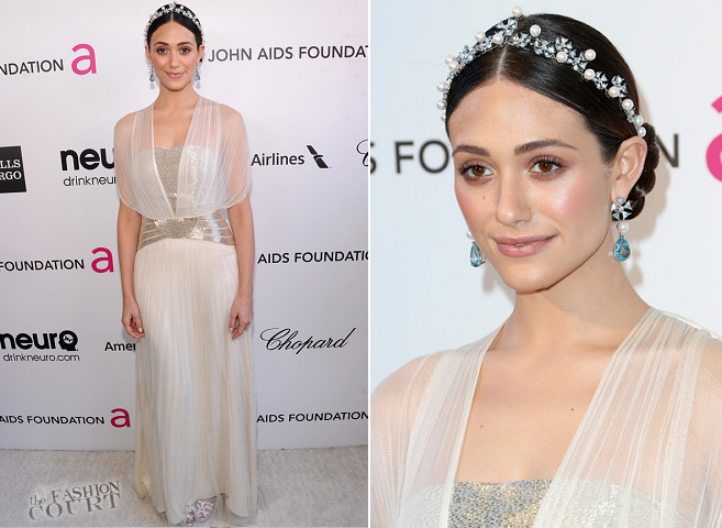 Emmy Rossum in Catherine Deane | 2013 Elton John AIDS Foundation Academy Awards Viewing Party
