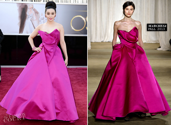 Fan Binging in Marchesa | 2013 Oscars