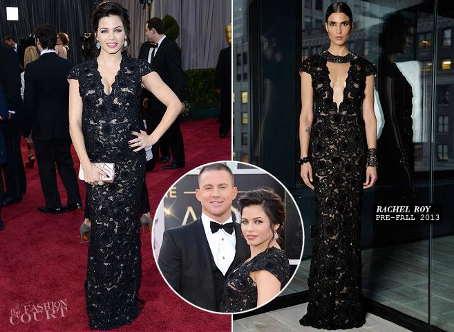Jenna Dewan-Tatum in Rachel Roy | 2013 Oscars