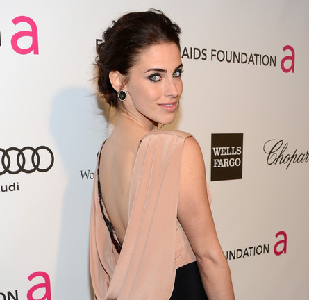 Jessica Lowndes in Maria Lucia Hohan | 2013 Elton John AIDS Foundation Academy Awards Viewing Party