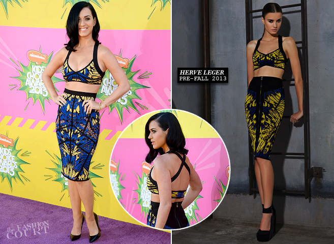 Katy Perry in Herve Leger | 2013 Kids' Choice Awards