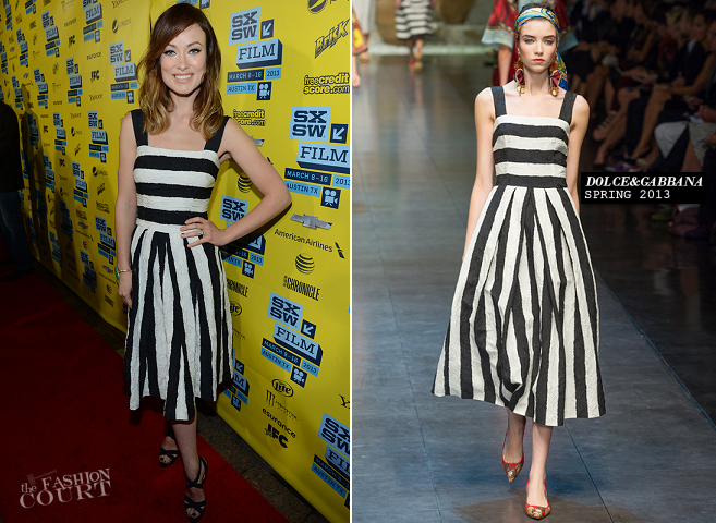 Olivia Wilde in Dolce & Gabbana | 'The Incredible Burt Wonderstone' - 2013 SXSW Festival Premiere