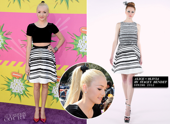 Peyton List in Alice + Olivia | 2013 Kids' Choice Awards