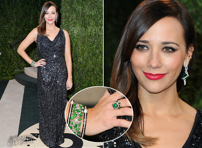 Rashida Jones in Vivienne Westwood | 2013 Vanity Fair Oscar Party