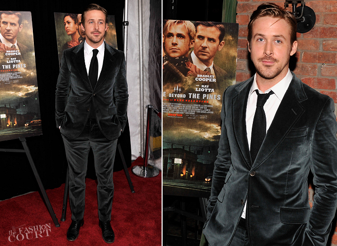Ryan Gosling in Gucci | 'The Place Beyond The Pines' New York Premiere