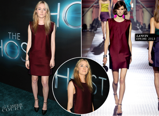 Saoirse Ronan in Lanvin | 'The Host' Hollywood Premiere
