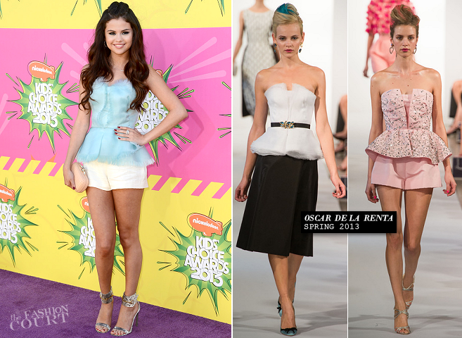 Selena Gomez in Oscar de la Renta | 2013 Kids' Choice Awards