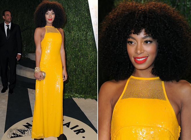 Solange Knowles in Emilio Pucci | 2013 Vanity Fair Oscar Party
