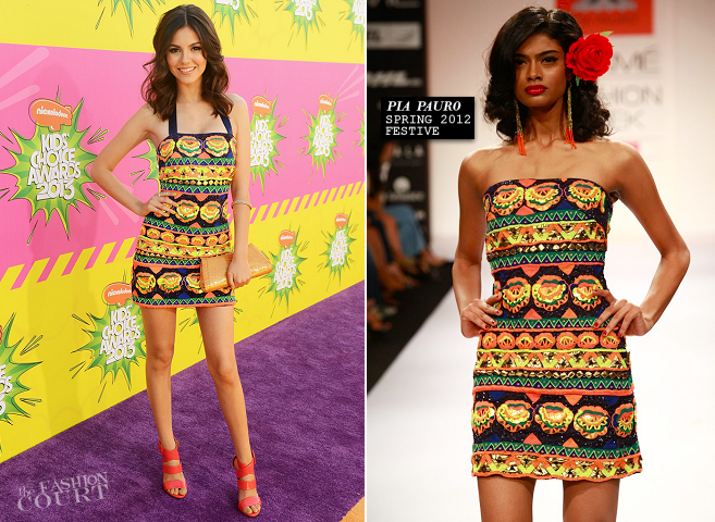 Victoria Justice in Pia Pauro | 2013 Kids' Choice Awards