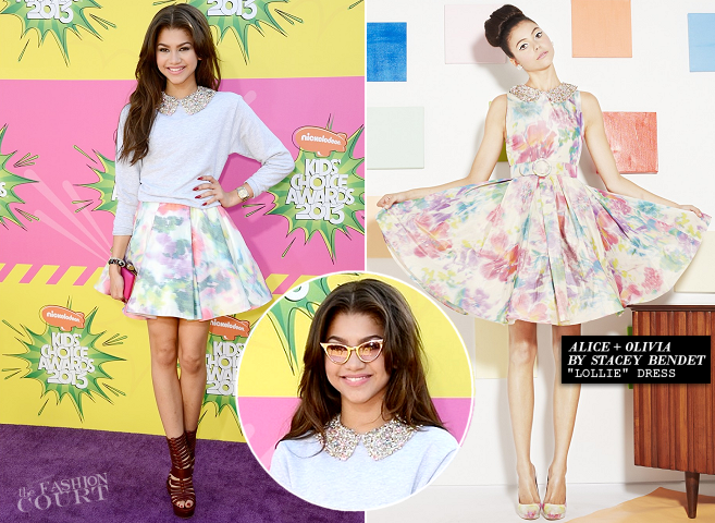 Zendaya in Alice + Olivia | 2013 Kids' Choice Awards