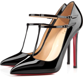 Christian Louboutin V NECK T-Strap Pumps
