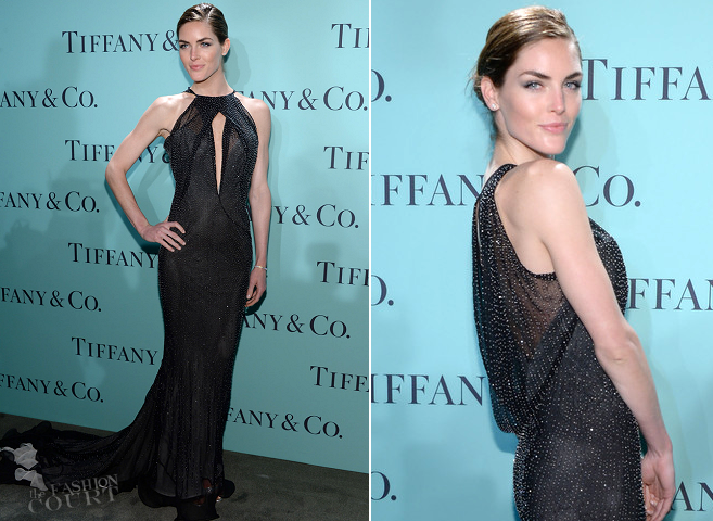 Hilary Rhoda in Donna Karan Atelier | 2013 Tiffany & Co. Blue Book Ball