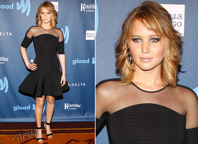 Jennifer Lawrence in David Koma | 2013 GLAAD Media Awards