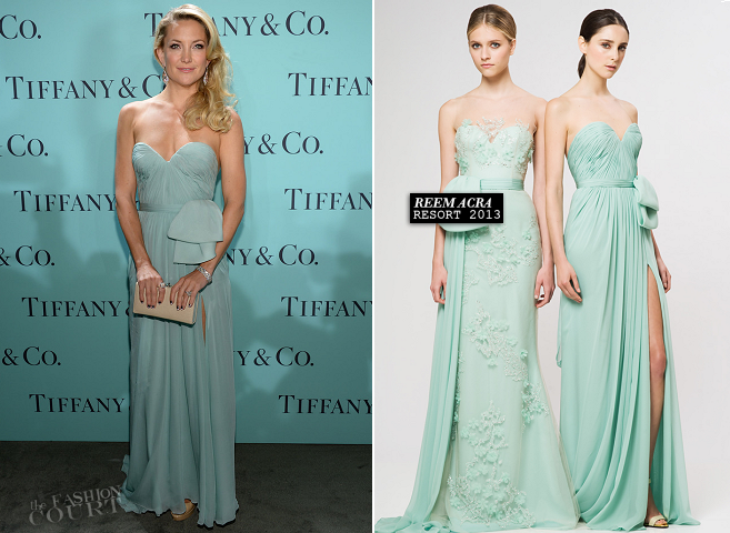 Kate Hudson in Reem Acra | 2013 Tiffany & Co. Blue Book Ball