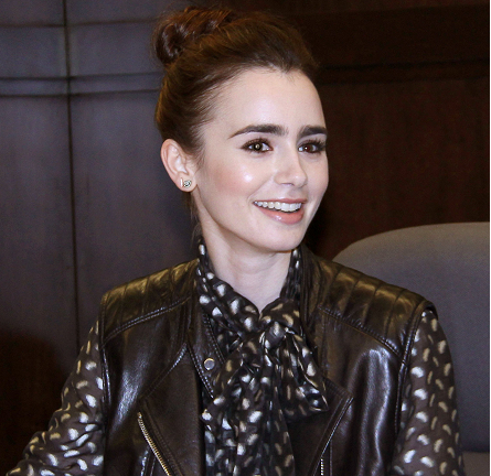Lily Collins in 3.1 Phillip Lim, Temperley London and Rag & Bone | 'A Clockwork Princess' Book Signing