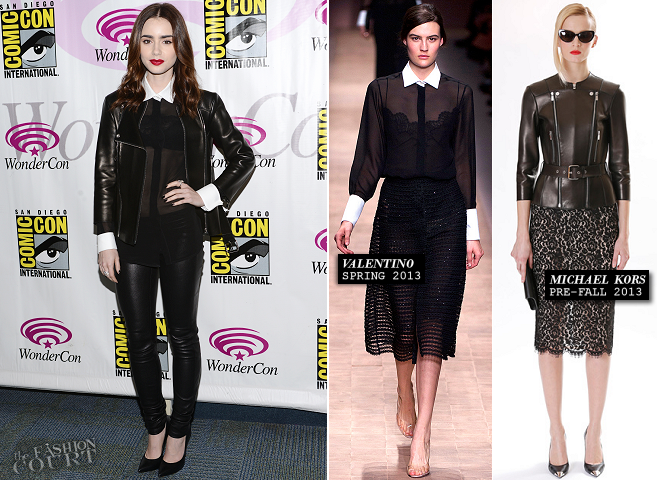 Lily Collins in Michael Kors & Valentino | WonderCon Anaheim 2013 - Day 2