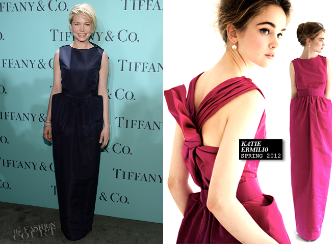 Michelle Williams in Katie Ermilio | 2013 Tiffany & Co. Blue Book Ball