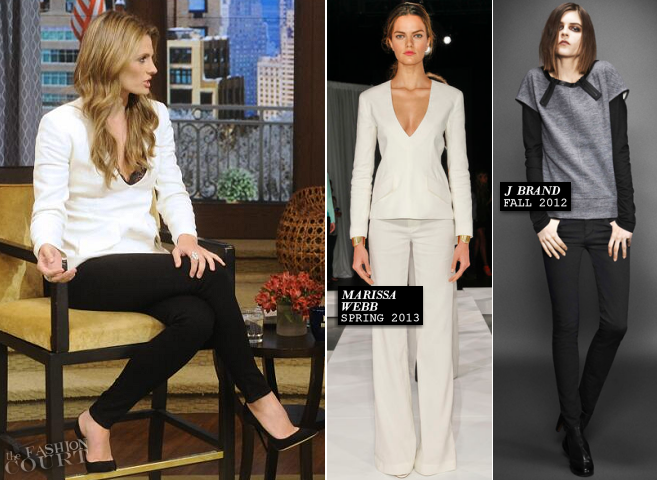 Stana Katic in Marissa Webb & J Brand | 'Live! With Kelly and Michael'