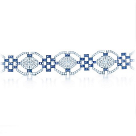 Tiffany & Co. Blue Book Art Deco Sapphire & Diamond Bracelet