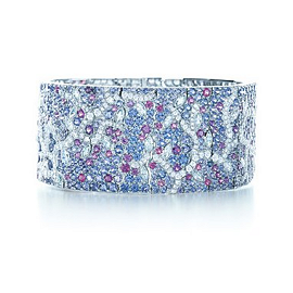 Tiffany & Co. Sapphire Diamond Cuff Bracelet