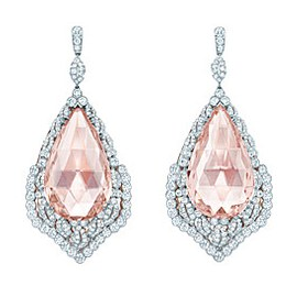 Tiffany & Co. Morganite and Diamond Leaf Earrings
