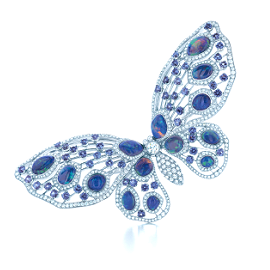 Tiffany & Co. Sapphire Diamond Butterfly Brooch
