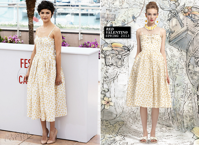 Audrey Tautou in RED Valentino | 2013 Cannes Film Festival Photocall