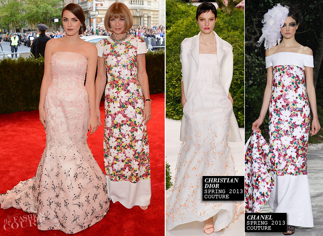 Anna Wintour in Chanel Couture & Bee Shaffer in Dior Couture | MET Gala 2013