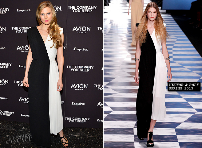 Brit Marling in Viktor & Rolf | 'The Company You Keep' New York Premiere