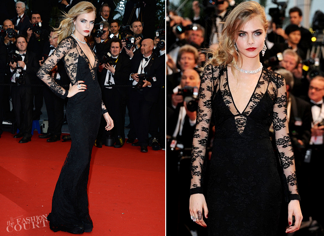 Cara Delevingne in Burberry Prorsum | 'The Great Gatsby' Premiere - 2013 Cannes Film Festival Opening Ceremony