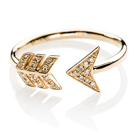 EF Collection Diamond Arrow Ring
