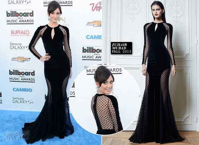 Emmy Rossum in Zuhair Murad | 2013 Billboard Music Awards